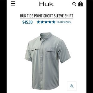 Men's Huk Dry Fit Button Down